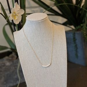 Jewelry - Pearl Necklace with gold chain